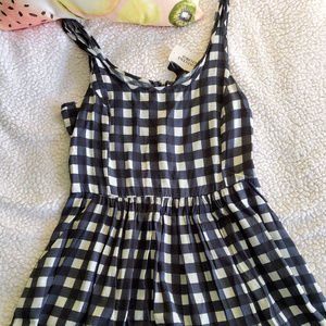 Checkered Skater Dress (w/ Pockets!!)